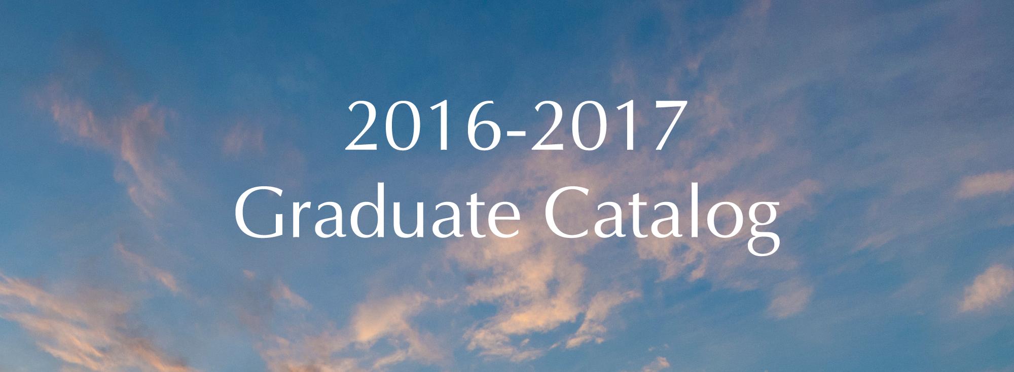 Graduate Catalog Image
